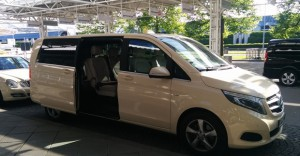 V-Klasse von Mercedes Benz als Großraum (1-7 Gäste) oder auch Taxibus genannt
