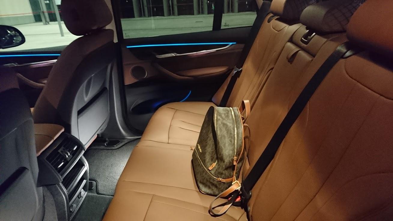 BMW-X 5 Taxi in München: Rücksitz